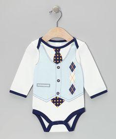 Loving this Blue Argyle Bodysuit - Infant on #zulily! #zulilyfinds