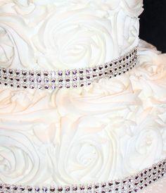 25th Wedding Anniversary Rosette cake