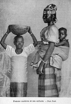 Femme ouolove (wolof) her children. ([1902?]) ... — Vintage Black Beauties
