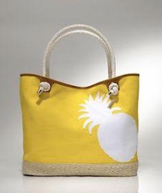 Pineapple tote bagl