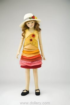 Maggie Iacono Collectible Dolls - great idea for a dress for your AG doll with modifications