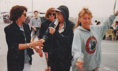 Dunkirk, France, 1992 with Anneke Derksen and Trisha Garnier (Tony's wife)
