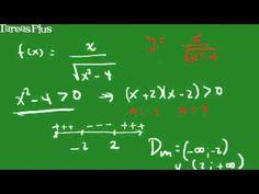Dominio y rango función racional con radical en el denominador - YouTube