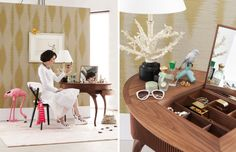 Interior trend Summer at Sea with Jackie Kennedy @Perscentrum Wonen with comfortable #Parade #rug.