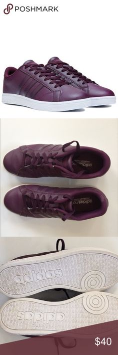 Adidas Originals Neo Baseline Sneakers Super cute but I'm giving them up because they run a little large. Would best fit a women's size 8. Worn once. Adidas Shoes Sneakers