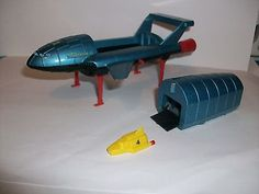Dinky Toys Thunderbirds 2 & original T/Bird 4 in later edition blue (I repainted mine metalic green.