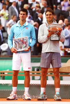Rafa Nadal and Novak Djokovic