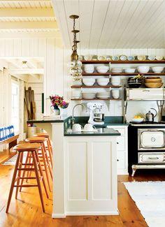 Maine cottage kitchen.