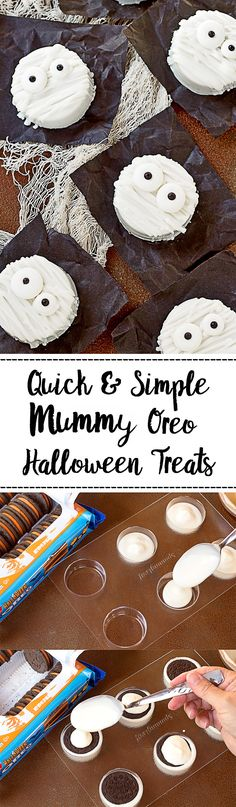 Decorated Chocolate Covered Mummy Oreo Tutorial for Halloween | The Bearfoot Baker