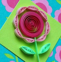 all things paper: Mini-Card Two Ways - Tutorial-quilled flower
