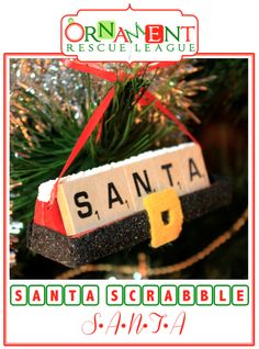 As Christmas nears Santa doesn't have much time for relaxation, but he does take time out for his weekly game of Scrabble with the elves. Christmas Tree Art, 25 Days Of Christmas, Christmas Ornaments To Make, Homemade Christmas Gifts, Christmas Projects, Holiday Crafts, Christmas Crafts, Christmas Ideas, Country Christmas