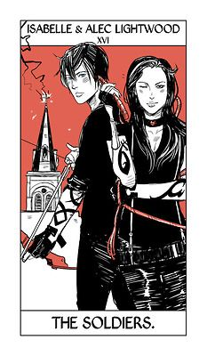 Cassandra Jean - Shadowhunter Tarot - The Soliders (Isabelle and Alec Lightwood)