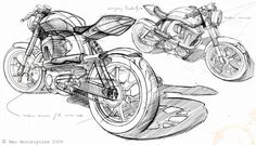 Peashooter, Mac Motorcycles. Principles of design in use: dominance, proportion, contrast.