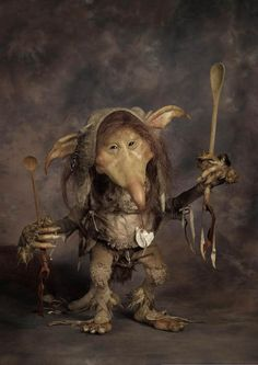 "Spoon Holder Troll by Wendy Froud, 13"" tall, Based on character from ""Trolls"" the book"