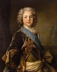 Louis Ferdinand, Dauphin de France (1729-1765), fourth legitimate child of Louis XV, 1739 by Louis Tocqué (1696-1772)