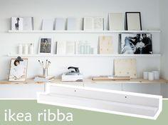 Leuke ideetjes voor de Ikea Ribba plankjes