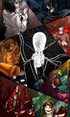 creepypasta by dbstjwls on DeviantArt Creepypasta Quotes, Creepypasta Wallpaper, Creepypasta Slenderman, Familia Creepy Pasta, Creepy Pasta Family, Creepy Monster, Slender Man, Laughing Jack, Jeff The Killer