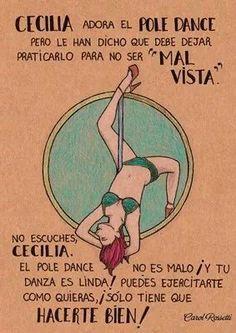 Cecilia y el pole dance o tubo como lo llamamos en México