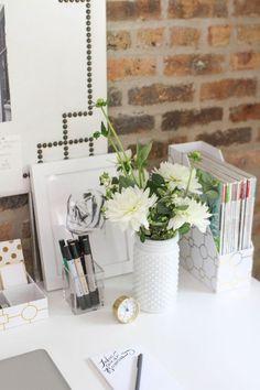 Chic en blanc - 10 idées pour aménager son coin bureau