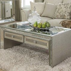 Mirrored Mock 2 Drawer Coffee Table Dimensions W 120cm H 45cm D 45cm Product code DDHF910 Delivery If the item is in stock we can usually deliver