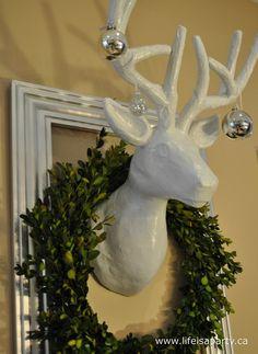 DIY Deer head for Christmas