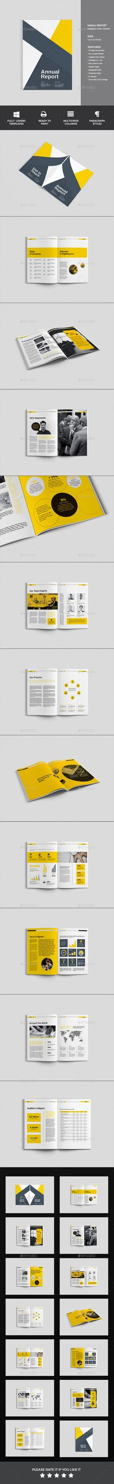 Annual Report Word Words, Brochures and Annual reports - business annual report template