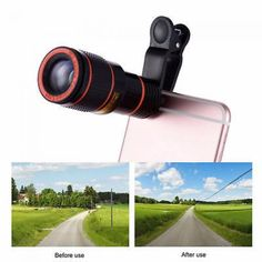 Universal Mobile Phone Clip-on 12x Optical Zoom Hd Telescope Camera Lens China