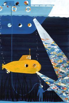 Под водой — Синяя ночь