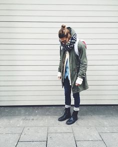 Get this look: http://lb.nu/look/7996356  More looks by Richy Koll: http://lb.nu/richykoll  Items in this look:  H&M Boots, H&M Socks, Zara Jeans, H&M Cardigan, Zara Jeans Shirt, H&M Parka, H&M Scarf, Herschel Backpack   #look #lookbook