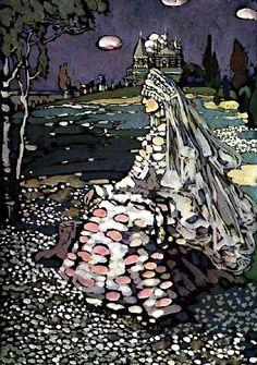 Vasily Kandinsky: The Bride (A Russian Beauty in a Landscape) (1903)