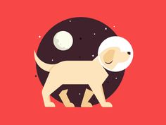 Dog in space +wallpaper designed by Paulius. Connect with them on Dribbble; Retro Robot, Space Illustration, Dog Vector, Dog Logo, Space Cat, Vector Design, Graphic Design, Illustrations Posters, Wallpaper