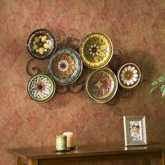 @Overstock - Bring your wall to life with this exquisite, Forli Scattered 6-piece Italian Plates Wall Art Set. The six bowls are a varying arrangement of flowers in shades of white, yellow, orange, green, pink and black, green, blue, and brown backgrounds.http://www.overstock.com/Home-Garden/Forli-Scattered-6-piece-Italian-Plates-Wall-Art-Set/5271650/product.html?CID=214117 $89.99