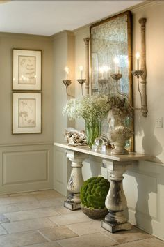 country home decor 44 Amazing Ideas French Entryway Decor 26 78 Best Images About French Country Decor Ideas On 7 European Home Decor, French Home Decor, Diy Home Decor, Room Decor, French Country Rug, French Country Decorating, French Style, Entryway Console Table, Entryway Decor