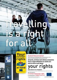 """Travelling is a Right for All"": Air travel tips for people with disabilities."