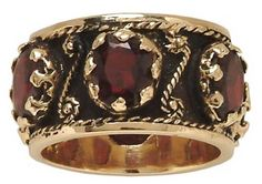 Mens Silver Wedding Ring Moorish Gothic Red Garnet Stone Sterling Engagement Band Ideas Pinterest Rings And
