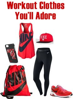 It is essential that workout apparel is not only stylish, but also comfortable and appropriate for specific activity.Workout Clothes You'll Adore! |fashion|gym clothes|tanktops|workout clothing|nike|cheap apparel|adidas|
