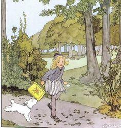 Rie Cramer September, ill p 15 heleentje Illustration Noel, Children's Book Illustration, Vintage Book Art, Vintage Images, Art Magique, Dutch Artists, Vintage Children, Fantasy Art, Drawings