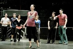 Sutton Foster in rehearsal for Anything Goes. I know the girl with her hands on her hips. That's how I roll.