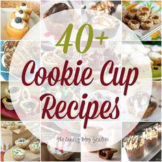 #Recipes Delicious Cookie Cup Recipes - From The Crafty Blog Stalker: http://thecraftyblogstalker.com/delicious-cookie-cup-recipes/