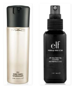 Another great product for setting your makeup is a finishing spray. MAC's Prep+Prime Fix+ is one of the most popular finishing sprays on the market, but many people have found ways to avoid the over-priced formula with DIY verisons. If DIY-ing isn't something you're interested in, though, checkout the e.l.f. studio makeup mist & set, which contains good-for-your-skin ingredients such as aloe, cucumber and vitamins A, C, and E.