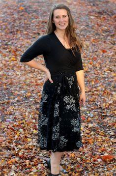 wrap dress sewing pattern/Kimono wrap dress PDF e book downloadable/womens Wrap…
