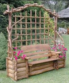 log bench for my sister-in-law's backyard Outdoor Projects, Garden Projects, Art Projects, Yard Art, Garden Furniture, Outdoor Furniture, Outdoor Decor, Outdoor Seating, Furniture Ideas