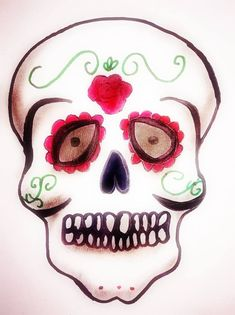 Halloween Face Makeup, Lifestyle, Day Of The Dead, Death, Basket