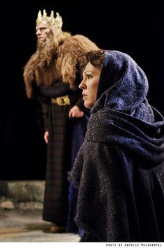 "Cymbeline (Scott Coopwood) and Imogen (Kelley Curran) in ""Shakespeare's Amazing Cymbeline."" Photo by Patrick Weishampel."