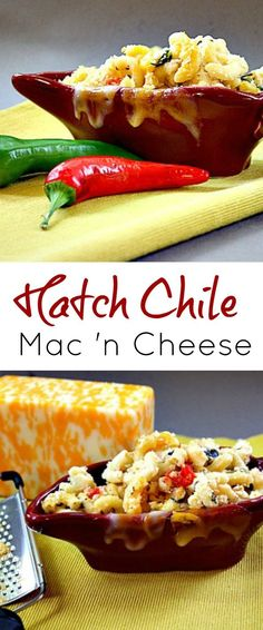 Hatch Chile Macaroni and Cheese. Take this luscious Macaroni and Cheese recipe and add roasted green chiles, tomatoes and chili powder and you've got a great Southwestern side dish. #macaroni #cheese #hatch #chile via @lannisam