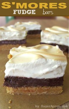 S'mores Fudge Bars Recipe | Sugar Apron