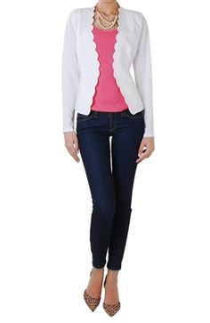 Cropped Fitted Jacket