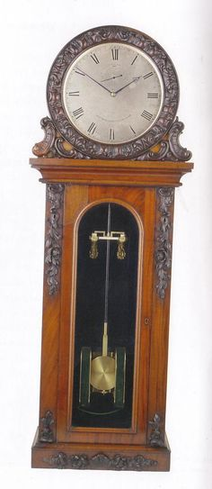 Electric Pendulum clock, c1845, by Alexander Bain, London, one of the first electric clocks.