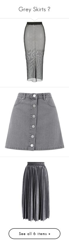 """""""Grey Skirts 🎈"""" by izzystarsparkle ❤ liked on Polyvore featuring skirts, alessandra rich, black, sheer skirts, see-through skirts, transparent skirt, calf length skirts, mini skirts, bottoms and saias"""