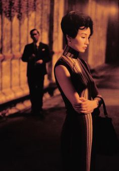 """Maggie Cheung in """"In the Mood for Love""""- stripes"""